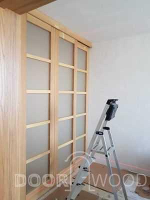 деревянные раздвижные двери ясень